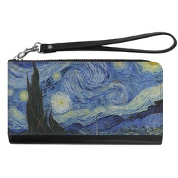 The Starry Night (Van Gogh 1889) Genuine Leather Smartphone Wrist Wallet