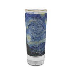 The Starry Night (Van Gogh 1889) 2 oz Shot Glass - Glass with Gold Rim