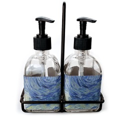 The Starry Night (Van Gogh 1889) Glass Soap & Lotion Bottles