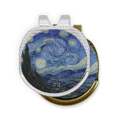 The Starry Night (Van Gogh 1889) Golf Ball Marker - Hat Clip