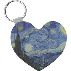 The Starry Night (Van Gogh 1889) Heart Keychain