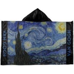 The Starry Night (Van Gogh 1889) Kids Hooded Towel