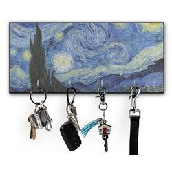 The Starry Night (Van Gogh 1889) Key Hanger w/ 4 Hooks