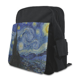 The Starry Night (Van Gogh 1889) Kid's Backpack with Customizable Flap