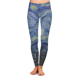 The Starry Night (Van Gogh 1889) Ladies Leggings - Medium