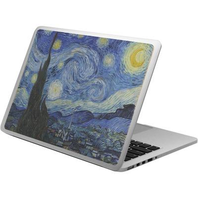 The Starry Night (Van Gogh 1889) Laptop Skin - Custom Sized