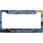The Starry Night (Van Gogh 1889) License Plate Frame - Style B