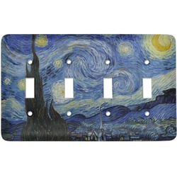 The Starry Night (Van Gogh 1889) Light Switch Cover (4 Toggle Plate)