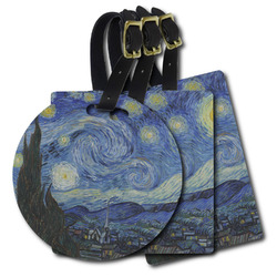 The Starry Night (Van Gogh 1889) Plastic Luggage Tags