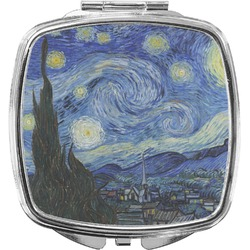 The Starry Night (Van Gogh 1889) Compact Makeup Mirror