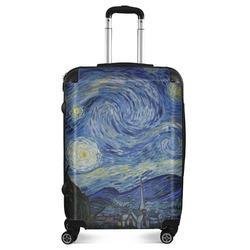 "The Starry Night (Van Gogh 1889) Suitcase - 24""Medium - Checked"