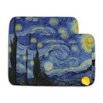 The Starry Night (Van Gogh 1889) Memory Foam Bath Mat