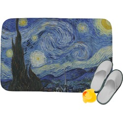 The Starry Night (Van Gogh 1889) Memory Foam Bath Mat