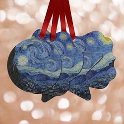 The Starry Night (Van Gogh 1889) Metal Ornaments - Double Sided