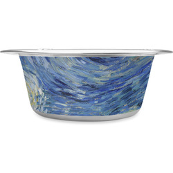The Starry Night (Van Gogh 1889) Stainless Steel Dog Bowl