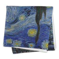The Starry Night (Van Gogh 1889) Microfiber Dish Rag
