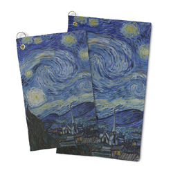 The Starry Night (Van Gogh 1889) Microfiber Golf Towel