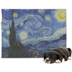 The Starry Night (Van Gogh 1889) Minky Dog Blanket