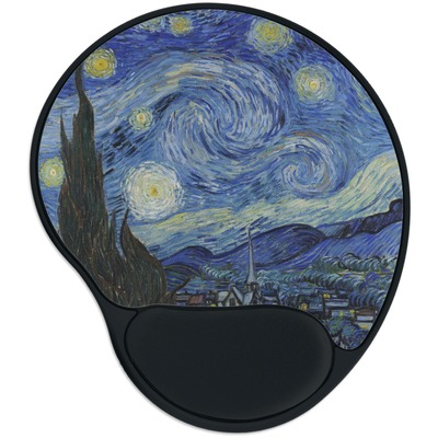 The Starry Night (Van Gogh 1889) Mouse Pad with Wrist Support