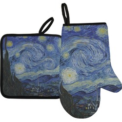 The Starry Night (Van Gogh 1889) Oven Mitt & Pot Holder