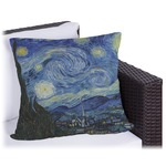 The Starry Night (Van Gogh 1889) Outdoor Pillow