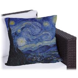 The Starry Night (Van Gogh 1889) Outdoor Pillow