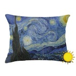 The Starry Night (Van Gogh 1889) Outdoor Throw Pillow (Rectangular)