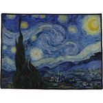The Starry Night (Van Gogh 1889) Door Mat