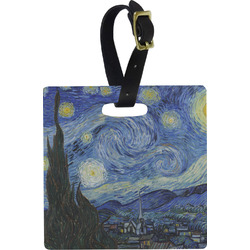 The Starry Night (Van Gogh 1889) Square Luggage Tag