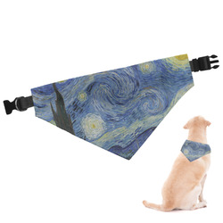 The Starry Night (Van Gogh 1889) Dog Bandana - Small