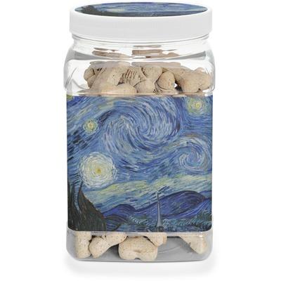 The Starry Night (Van Gogh 1889) Dog Treat Jar