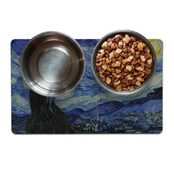 The Starry Night (Van Gogh 1889) Dog Food Mat