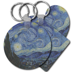 The Starry Night (Van Gogh 1889) Plastic Keychains