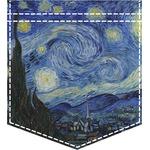 The Starry Night (Van Gogh 1889) Iron On Faux Pocket