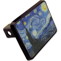 The Starry Night (Van Gogh 1889) Rectangular Trailer Hitch Cover - 2""
