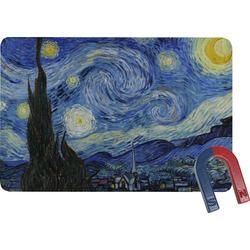 The Starry Night (Van Gogh 1889) Rectangular Fridge Magnet