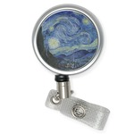 The Starry Night (Van Gogh 1889) Retractable Badge Reel