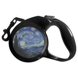 The Starry Night (Van Gogh 1889) Retractable Dog Leash - Multiple Sizes