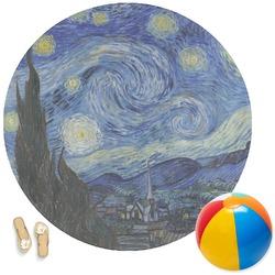 The Starry Night (Van Gogh 1889) Round Beach Towel