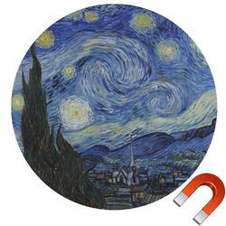 The Starry Night (Van Gogh 1889) Round Car Magnet