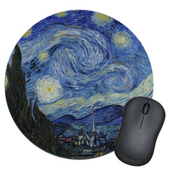 The Starry Night (Van Gogh 1889) Round Mouse Pad