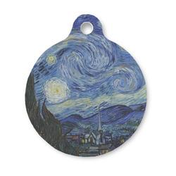 The Starry Night (Van Gogh 1889) Round Pet Tag
