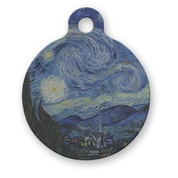 The Starry Night (Van Gogh 1889) Round Pet Tag