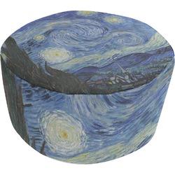 The Starry Night (Van Gogh 1889) Round Pouf Ottoman