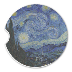 The Starry Night (Van Gogh 1889) Sandstone Car Coaster - Single