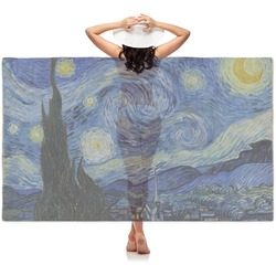 The Starry Night (Van Gogh 1889) Sheer Sarong