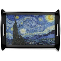 The Starry Night (Van Gogh 1889) Black Wooden Tray