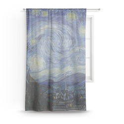 "The Starry Night (Van Gogh 1889) Sheer Curtain - 50""x84"""