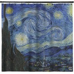 The Starry Night (Van Gogh 1889) Shower Curtain
