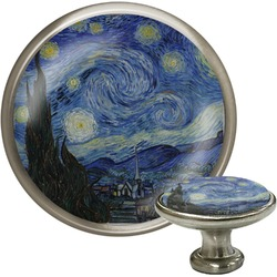 The Starry Night (Van Gogh 1889) Cabinet Knob (Silver)